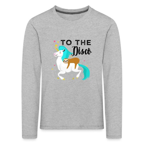 Funny Sloth Riding Unicorn - Kinder Premium Langarmshirt