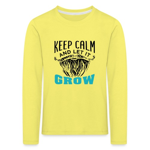 Beard Keep Calm And Let It Grow - Kinder Premium Langarmshirt