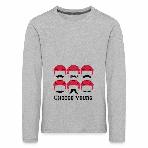 novembre et moustache - T-shirt manches longues Premium Enfant
