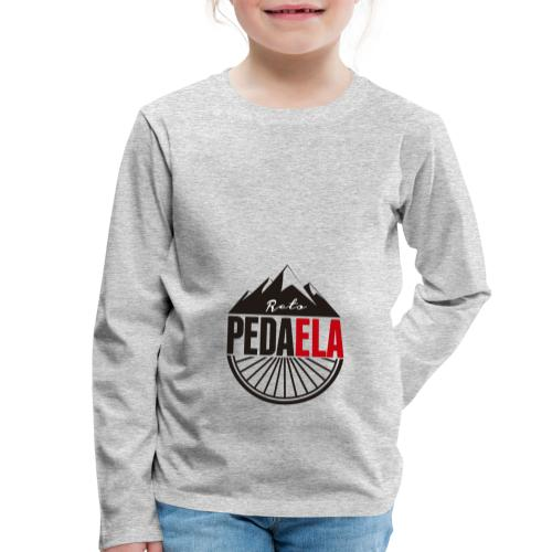PEDAELA - Camiseta de manga larga premium niño