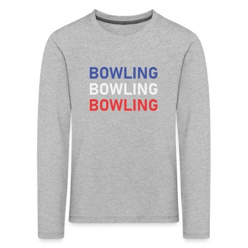 Bowling Bleu Blanc Rouge - T-shirt manches longues Premium Enfant