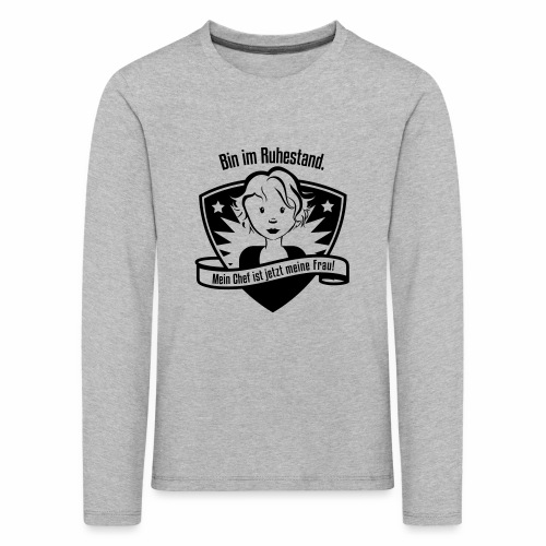 Ruhestand Comic - Kinder Premium Langarmshirt
