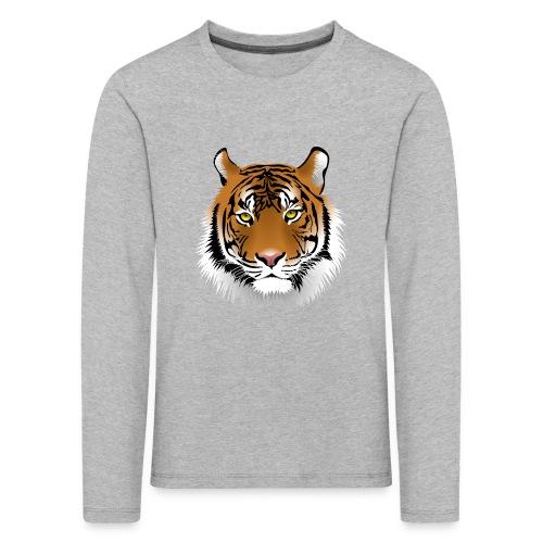png tiger face tiger face 2262 - Långärmad premium-T-shirt barn