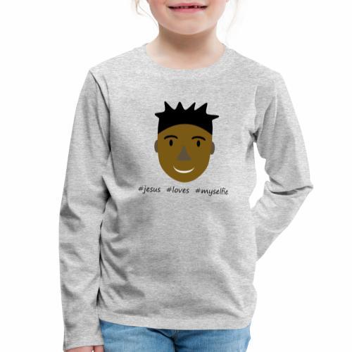 jesus loves myselfie - Kinder Premium Langarmshirt