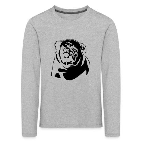 English Bulldog - negative - Lasten premium pitkähihainen t-paita