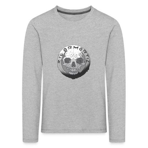 Rigormortiz Black and White Design - Kids' Premium Longsleeve Shirt