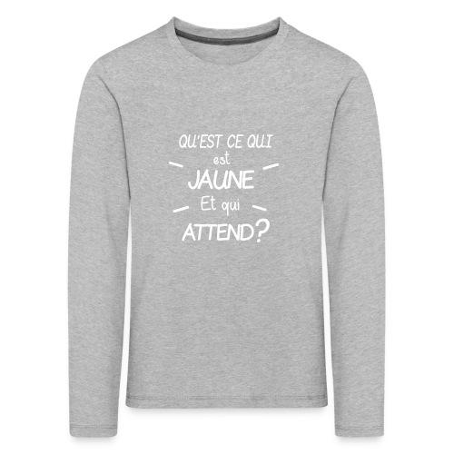 Edition Limitee Jonathan Black - T-shirt manches longues Premium Enfant