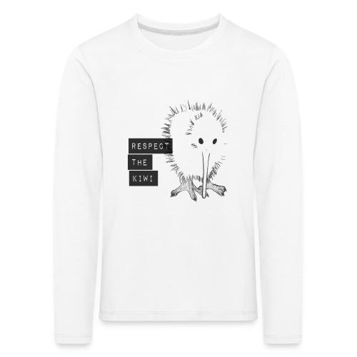 Respect the Kiwi - Kinder Premium Langarmshirt
