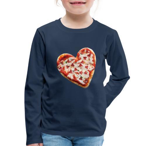 Pizza a cuore - Maglietta Premium a manica lunga per bambini