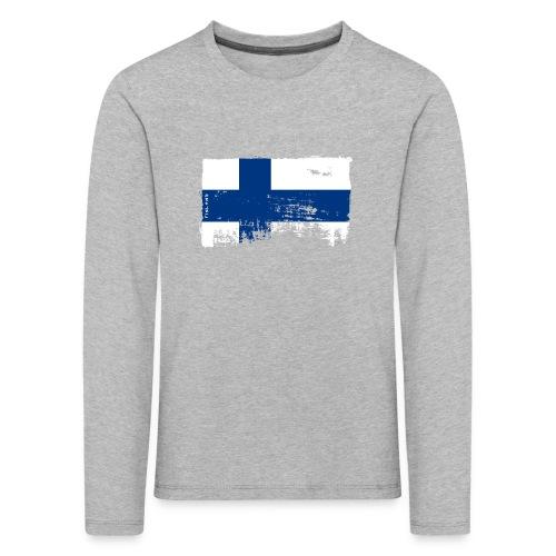 Suomen lippu, Finnish flag T-shirts 151 Products - Lasten premium pitkähihainen t-paita