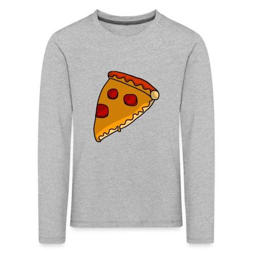 pizza - Børne premium T-shirt med lange ærmer