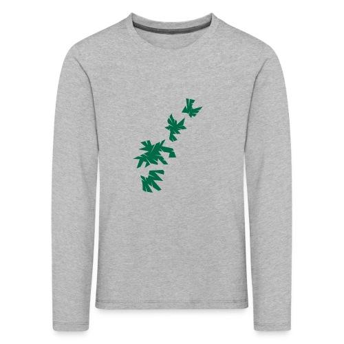 Green Leaves - Kinder Premium Langarmshirt