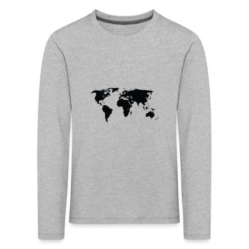 World - Børne premium T-shirt med lange ærmer