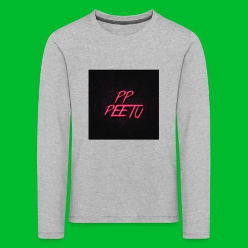 Ppppeetu logo - Lasten premium pitkähihainen t-paita