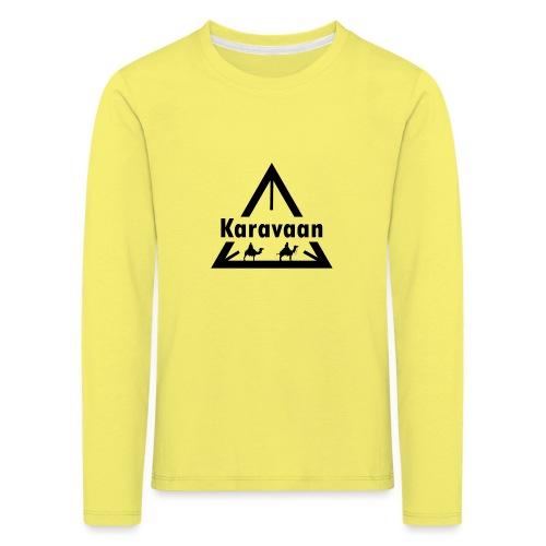 Karavaan Black (High Res) - Kinderen Premium shirt met lange mouwen