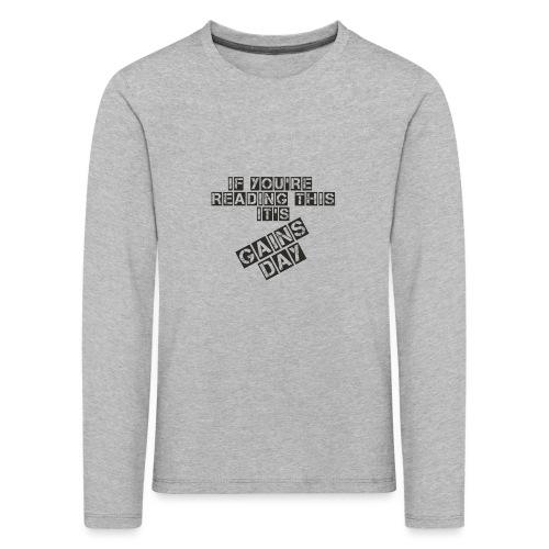 gainsday - Børne premium T-shirt med lange ærmer