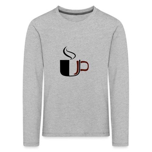 JU Kahvikuppi logo - Lasten premium pitkähihainen t-paita