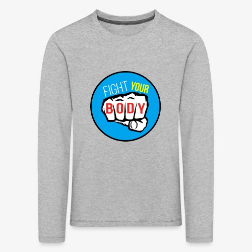 logo fyb bleu ciel - T-shirt manches longues Premium Enfant