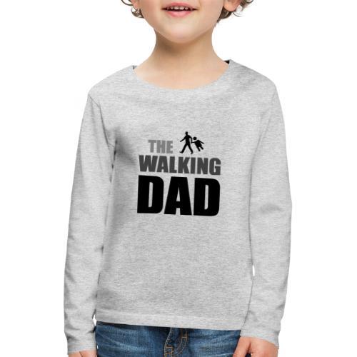 the walking dad auf dem Weg in die lustige Bar - Kinder Premium Langarmshirt
