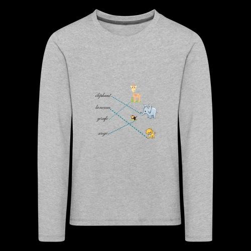 animaux de la savane. - T-shirt manches longues Premium Enfant