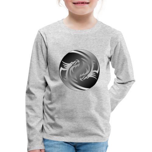 Yin Yang Dragon - Kids' Premium Longsleeve Shirt