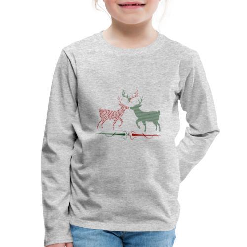 Christmas deer - Kids' Premium Longsleeve Shirt