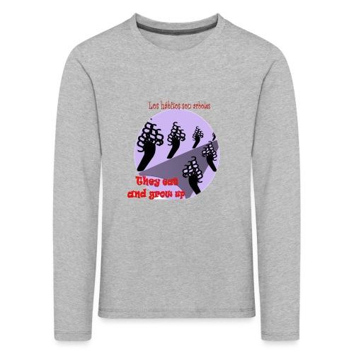 hábitos - Camiseta de manga larga premium niño