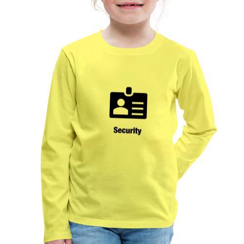 Security - Kinder Premium Langarmshirt