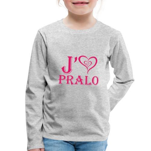 j aime pralo rouge 2 - T-shirt manches longues Premium Enfant