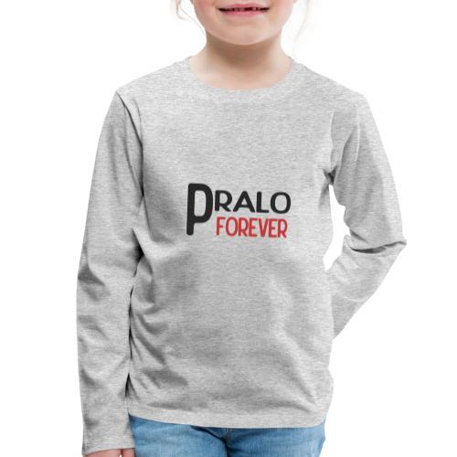 pralo forever noir et rouge - T-shirt manches longues Premium Enfant
