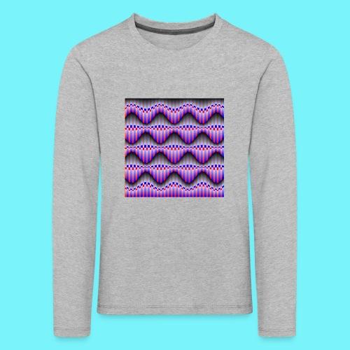 Sine waves in red and blue - Kids' Premium Longsleeve Shirt