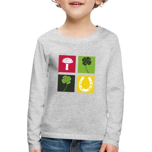 Just my luck Glück - Kinder Premium Langarmshirt