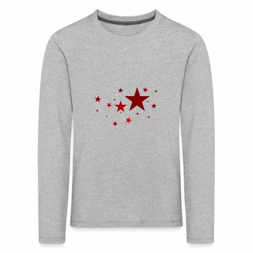 Sterne in Rot - Kinder Premium Langarmshirt