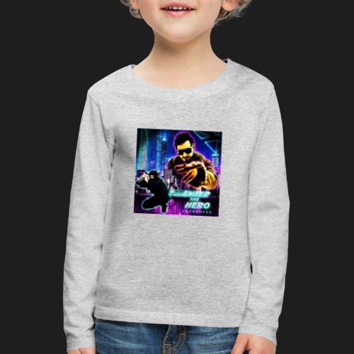Enter the Hero - Lasten premium pitkähihainen t-paita