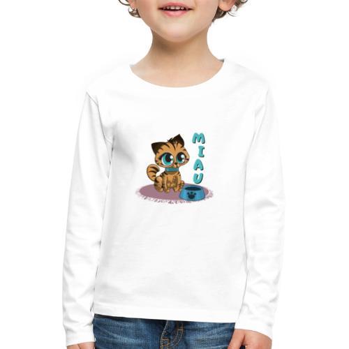 Miau - Kinder Premium Langarmshirt