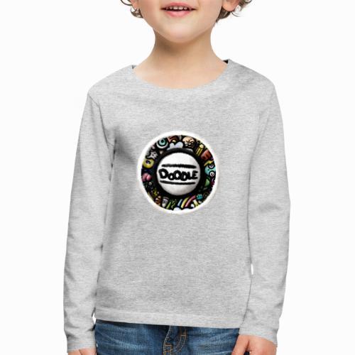 Sticker Doodle Art - T-shirt manches longues Premium Enfant