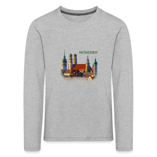 München Frauenkirche - Kinder Premium Langarmshirt
