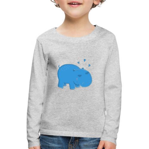 Kleines blaues Nilpferd - Kinder Premium Langarmshirt