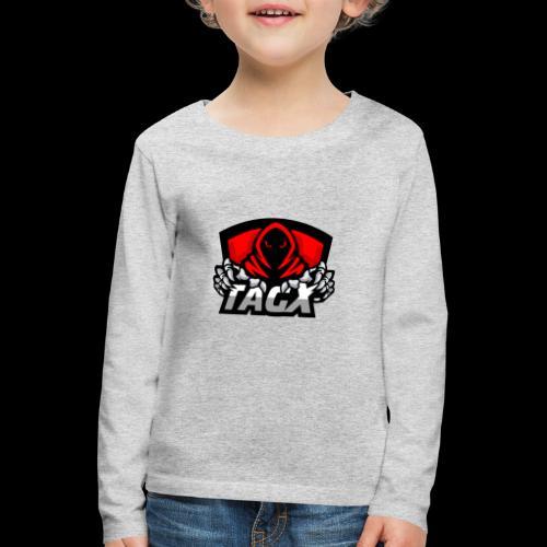 TagX Logo - Lasten premium pitkähihainen t-paita