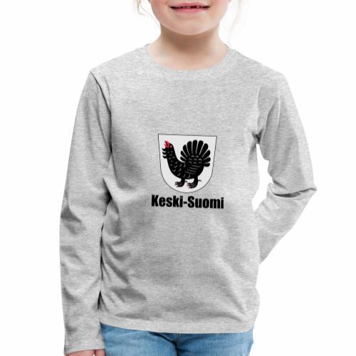 Keski-Suomi vaakuna tuote - Lasten premium pitkähihainen t-paita