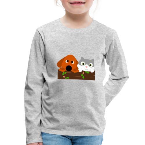 Hund & Katz - Kinder Premium Langarmshirt