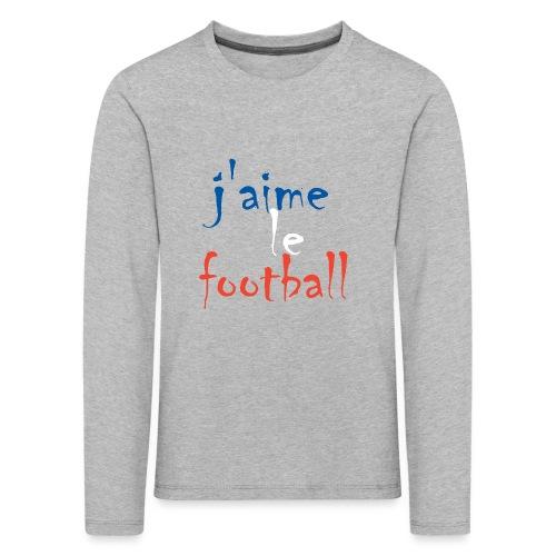 j' aime le football - Kinder Premium Langarmshirt