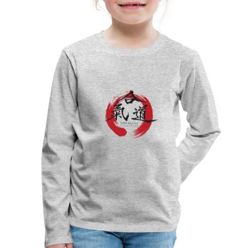 KAK logo black ink - Børne premium T-shirt med lange ærmer
