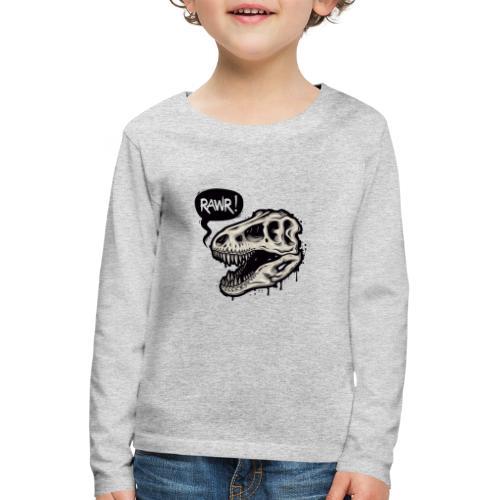 DINO RAWR 1 - Camiseta de manga larga premium niño