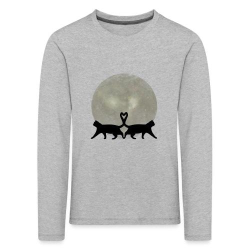 Cats in the moonlight - Kinderen Premium shirt met lange mouwen