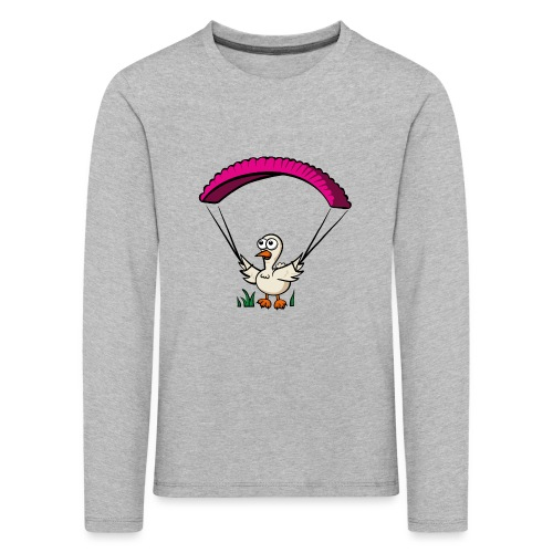Groundhendl Groundhandling Hendl Paragliding Huhn - Kinder Premium Langarmshirt