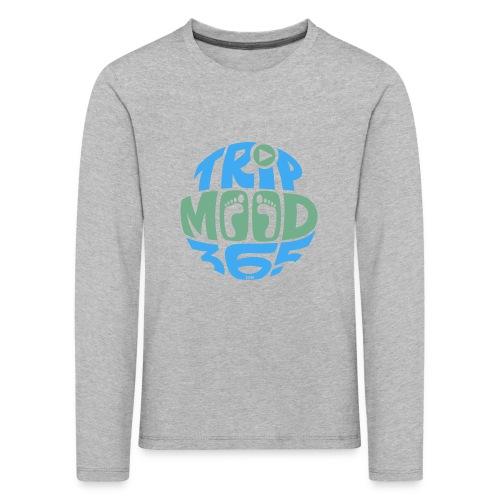 TRIPMOOD365 Traveler Clothes and Products- Colors - Lasten premium pitkähihainen t-paita