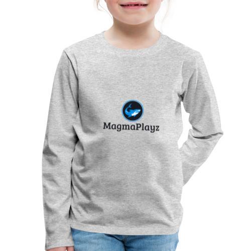 MagmaPlayz shark - Børne premium T-shirt med lange ærmer