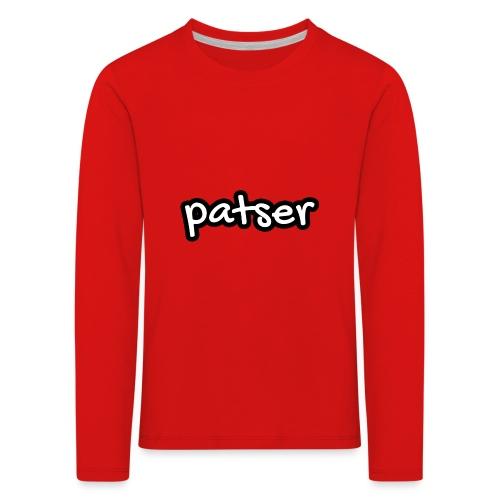 Patser - Basic White - Kinderen Premium shirt met lange mouwen