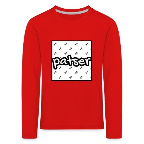Patser - Basic Print White - Kinderen Premium shirt met lange mouwen